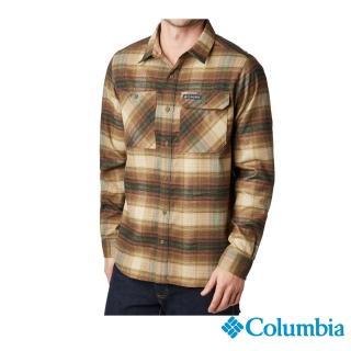 【Columbia 哥倫比亞】男款- 防曬50快排襯衫-褐綠(UAE02130CS / 排汗.防曬.機能)
