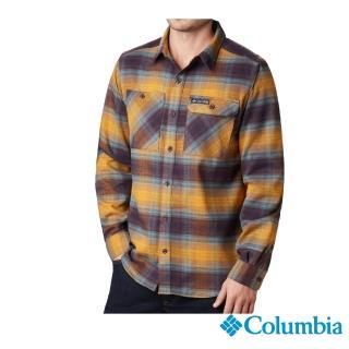 【Columbia 哥倫比亞】男款- 防曬50快排襯衫-棕色格紋(UAE02130ZG / 排汗.防曬.機能)