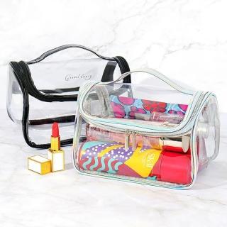 【WEEKEIGHT】簡約透明大容量手提盥洗包