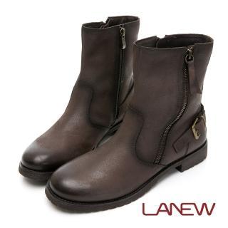 【La new】率性風格中筒靴 平底靴(女00250491)
