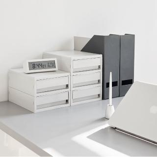 【SYSMAX】〔希思美〕雙層桌上小抽屜/淺灰(A4資料櫃/收納櫃/效率櫃/雙層/桌上文件/)
