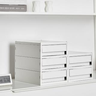 【SYSMAX】〔希思美〕三層桌上小抽屜/淺灰(A4資料櫃/收納櫃/效率櫃/三層/桌上文件/)