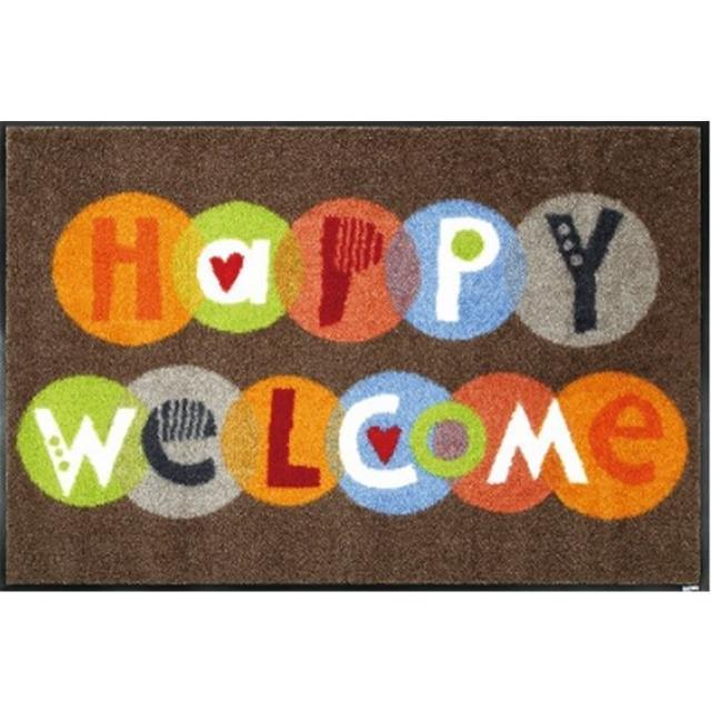【Kleentex】Welcome_Kleentex居家設計地墊地毯-50X75cm(可水洗、耐久、不易髒)/