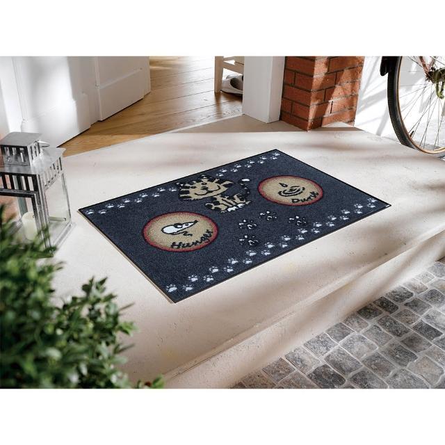 【Kleentex】Katzenmahlzeit_Kleentex居家設計地墊地毯-50X75cm(可水洗、耐久、不易髒)/