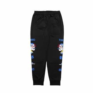 【asics 亞瑟士】長褲 Japanese Pants 東京 男款 亞瑟士 橫須賀 富士山 日本風格 黑 彩(2191A235001)