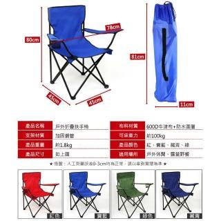 【VENCEDOR】露營折疊扶手椅型 - 2入(烤肉 戶外 露營折疊扶手收納椅 釣魚椅 露營椅 戶外椅 野餐)