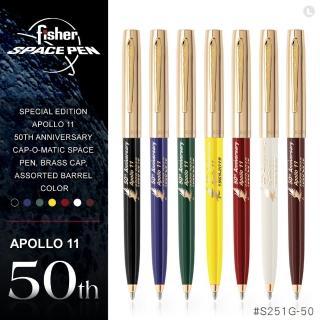 【fisher 美國】Apollo 11 阿波羅11號50週年紀念太空筆/金蓋(#S251G-50)