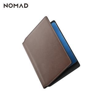 【美國NOMAD】HORWEEN 摩登皮革護照夾-棕(經典真皮保護)