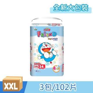 【日本大王】全新大包裝 日本大王 哆啦a夢限定版 樂樂褲 XXL號(34片x3包共102片)