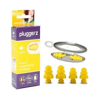 【Pluggerz】荷蘭進口 安靜閱讀耳塞 聲音濾波器 1大1小2副裝(耳塞   閱讀耳塞 聲音濾波器)