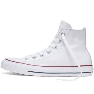 【CONVERSE】CT All Star HI LTHR WHT 男女 情侶 學生 白 荔枝皮革 高筒休閒鞋(132169C)