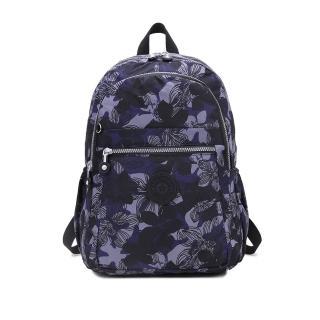 【VIVI SECRET】輕量防潑水多隔層後背包(花漾藍)