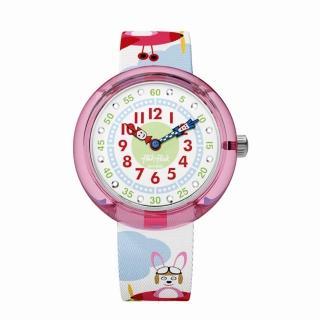 【Flik Flak】兒童錶 HOPP ON A PLANE 飛兔森林(31.85mm)