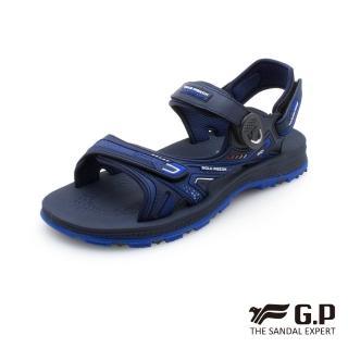 【G.P】中性柔軟耐用磁扣兩用涼拖鞋G0793-藍色(SIZE:37-45 共三色)