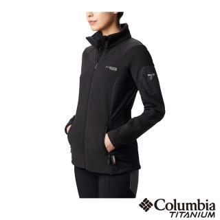 【Columbia 哥倫比亞】女款-鈦 PT快排刷毛外套-黑色(UAR13510BK / 快排.舒適.休閒)