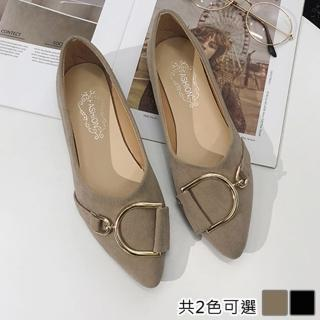 【K.W.】歐洲款嬌豔航線平底鞋(共2色)