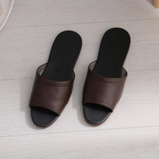 【333 家居鞋館】台灣製典雅室內皮拖鞋(4色)