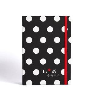 【agnes b.】To b.黑色點點款空白筆記本