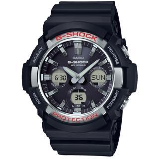 【CASIO 卡西歐】G-SHOCK 強悍風格太陽能雙顯腕錶(GAS-100-1A)