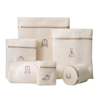 【PUSH!】居家生活用品洗衣機專用防變形洗衣袋洗毛衣網洗衣機網袋護洗袋大號六件套(I85)