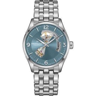 【HAMILTON 漢米爾頓】JAZZMASTER爵士系列OPEN HEART 80小時自動腕錶(H32705142)