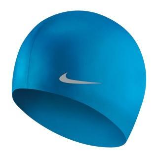 【NIKE 耐吉】兒童矽膠泳帽 相片藍 TESS0106-458