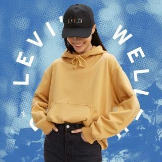 【LEVIS】Wellthread環境友善系列 女款 口袋帽T / 棉麻混紡工法 / 低加工保留布料原始質感-熱銷單品