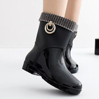 【LN】現貨 時尚耐磨中筒防滑雨靴(兩款任選/雨鞋)