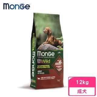【monge 瑪恩吉】BWILD真野無穀-成犬配方(羊肉+馬鈴薯+豌豆)12kg