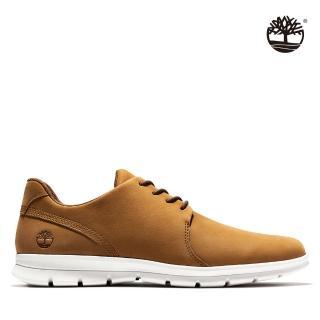 【Timberland】男款淺棕色磨砂革休閒輕質鞋(A1XGB228)