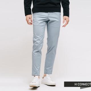 【H:CONNECT】韓國品牌 男裝 -素面微鬆緊休閒長褲(藍色)