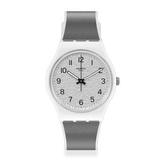 【SWATCH】原創系列手錶 ICY GUM 清透銀(34mm)