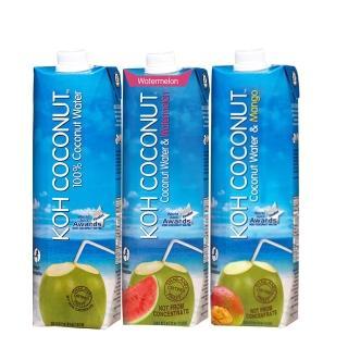 【KOH COCONUT 酷椰嶼】酷椰嶼椰子汁系列組合包1000ml*3入
