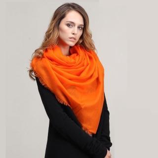 【ZANA】100%cashmere 200支紗羊絨超大規格頂級戒指絨 羔羊絨披肩 圍巾(13款任選)