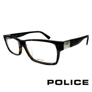 【POLICE】義大利經典個性粗框光學眼鏡(黑/琥珀 POV1772-0722)