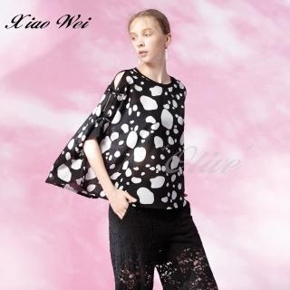 【CHENG DA】專櫃精品春夏款時尚流行短袖上衣(NO.513043)
