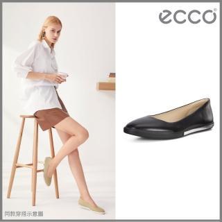 【ecco】SIMPIL II W 極簡美型舒適平底鞋 女鞋(黑 20884301001)