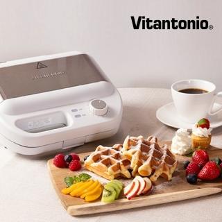 【Vitantonio】小V多功能計時鬆餅機(雪花白)/