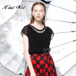 【CHENG DA】專櫃精品春夏款時尚流行短袖上衣(NO.513242)