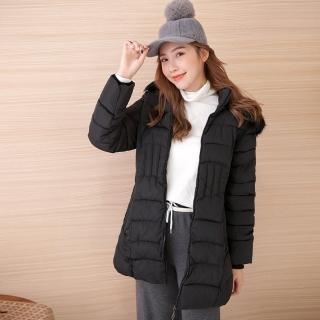 【Abbie】新款大毛領連帽收腰棉絨外套(現貨熱銷中)