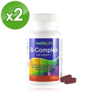 【Healthy Life 加力活】沛力水溶性維他命B+C錠(60顆*2瓶)