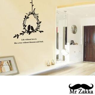 【Mr.Zakka】時尚居家創意風格DIY可移式壁貼(相思鳥)