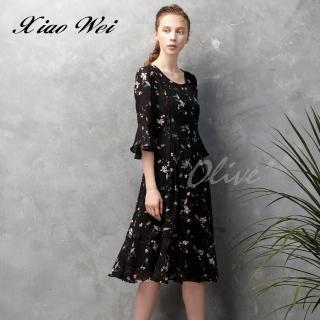 【CHENG DA】專櫃精品春夏款時尚五分袖洋裝(NO.513311)