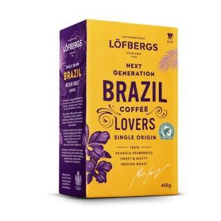 【Lofbergs 瑞典皇家】巴西單一產區咖啡粉(450g)
