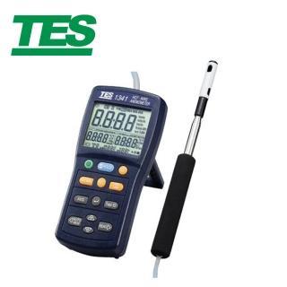 【TES 泰仕】熱線式風速計TES-1340(熱線式風速計 風速計)