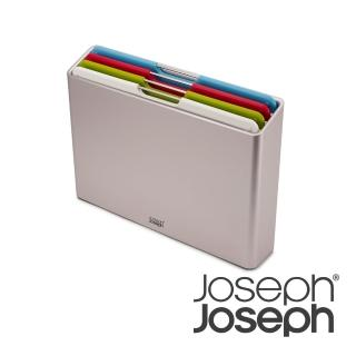 【Joseph Joseph】榮爵檔案夾止滑砧板四件組(騎士銀_小)