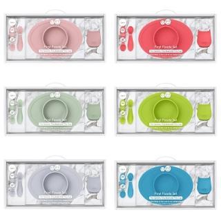 【美國ezpz】寶寶餐具套組_6色可選(FDA認證矽膠、最適合寶寶的第一套餐具)