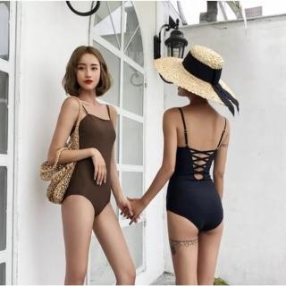 【SeasonsBikini】泳衣泳裝兩色露背綁帶連身泳衣bikini -502(泳衣泳裝兩色露背綁帶連身泳衣)