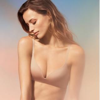 【Triumph 黛安芬】舒適自在系列 記憶枕無痕無鋼圈 B-C罩杯內衣(裸膚色)