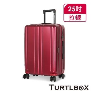 【TURTLBOX 特托堡斯】25吋 行李箱 100%德國拜耳PC材質 擴充版型 TB5(多色任選)